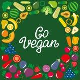 蔬菜和水果象框架 免版税库存图片