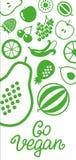 蔬菜和水果象长方形框架bacground 库存图片