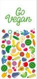 蔬菜和水果象长方形框架bacground 免版税图库摄影