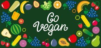 蔬菜和水果象长方形框架bacground 免版税库存照片