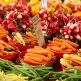 蔬菜在市场上 库存图片