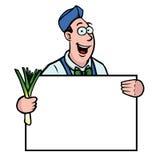 蔬菜水果商韭葱符号 库存例证