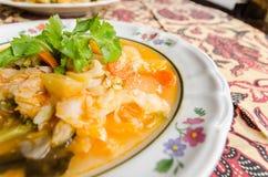蔬菜汤在苏门答腊,印度尼西亚 免版税库存照片