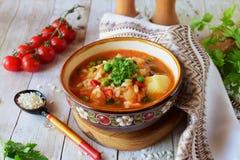 蔬菜汤用米 库存图片