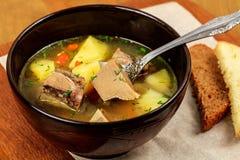 蔬菜汤用肉 库存图片