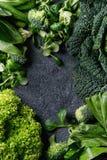 蔬菜沙拉和圆白菜 库存照片