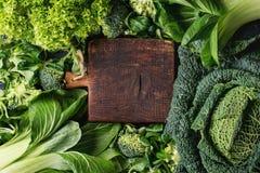 蔬菜沙拉和圆白菜 免版税库存图片