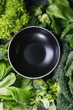 蔬菜沙拉和圆白菜 库存图片