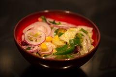 蔬菜沙拉用葱 库存照片