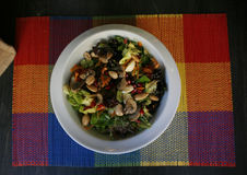 蔬菜沙拉用豆类 免版税库存照片