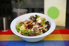 蔬菜沙拉用豆类 库存照片