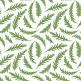 蔬菜沙拉重复的背景 与ruccola新鲜的绿色叶子的无缝的样式  也corel凹道例证向量 库存例证