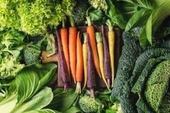 蔬菜沙拉,圆白菜,五颜六色的素食者 免版税库存照片