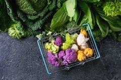 蔬菜沙拉,圆白菜,五颜六色的素食者 图库摄影