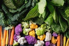 蔬菜沙拉,圆白菜,五颜六色的素食者 免版税图库摄影