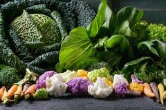 蔬菜沙拉,圆白菜,五颜六色的素食者 免版税库存图片