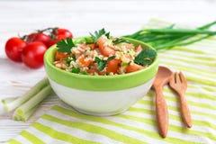 蔬菜沙拉 健康食物和素食主义者概念 图库摄影