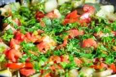 蔬菜炖肉蔬菜 免版税库存照片