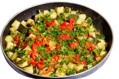 蔬菜炖肉蔬菜 免版税图库摄影