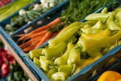 蔬菜的接近的副食品商店 免版税图库摄影