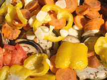 蔬菜的接近的新鲜的沙拉 免版税库存照片