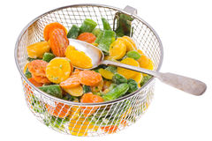 冻结蔬菜的混合 库存照片