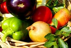 蔬菜背景 免版税库存图片