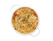 蔬菜通心粉汤汤 免版税库存照片
