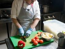 蔬菜餐准备健康盘食谱 免版税库存图片
