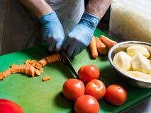 蔬菜餐准备健康盘食谱 图库摄影