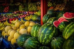 蔬菜水果商店面 图库摄影