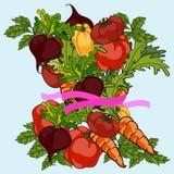 组蔬菜 素食主义者概念 库存例证