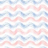 蔷薇石英的难看的东西无缝的样式和平静挥动 免版税图库摄影