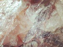 蔷薇石英矿物特写镜头纹理背景 免版税库存图片