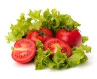 蕃茄、黄瓜菜和莴苣沙拉 免版税库存图片
