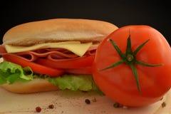 蕃茄三明治 免版税库存照片