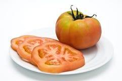 蕃茄切片 免版税库存照片