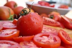 蕃茄切片 免版税图库摄影