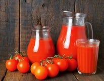 蕃茄和汁液 库存图片