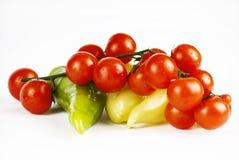 蕃茄和胡椒 免版税图库摄影