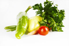 蕃茄和胡椒 免版税库存照片