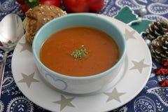 蕃茄和蓬蒿汤  图库摄影