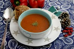 蕃茄和蓬蒿汤  库存图片