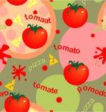 蕃茄和薄饼 库存图片