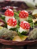 蕃茄和蛋开胃菜 图库摄影