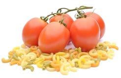 蕃茄和面团 免版税库存照片
