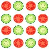 蕃茄和黄瓜 免版税库存图片