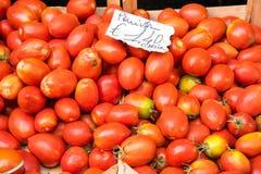 蕃茄在一个市场上在巴勒莫 库存照片