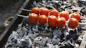 蕃茄在煤炭烹调 股票录像