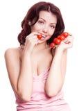 蕃茄妇女 库存图片
